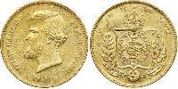 20000 Reis Imperio del Brasil (1822-1889) Oro Pedro II de Brasil (1825 - 1891)