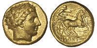 1 Statere Regno di Macedonia (800BC-146BC) Oro Philip II of Macedon (382 BC - 336 BC)