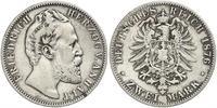 2 Марка Ангальт-Дессау (1603 -1863) / Анхальт (1806 - 1918) Срібло Frederick I, Duke of Anhalt (1831-1904)