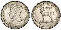 2 Shilling Southern Rhodesia (1923-1980) Argento Giorgio V (1865-1936)