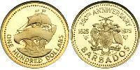 100 Dólar Barbados Oro