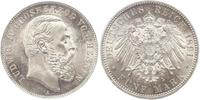 5 Mark Grand Duchy of Hesse (1806 - 1918) Silver Louis IV, Grand Duke of Hesse