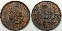 2 Centavo Argentine Republic (1861 - ) Copper
