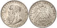 3 Mark Sassonia-Meiningen (1680 - 1918) Argento Giorgio II di Sassonia-Meiningen