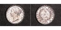 1/4 Rupee Inde Argent Victoria (1819 - 1901)