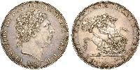 1 Crown United Kingdom of Great Britain and Ireland (1801-1922) Silver George III (1738-1820)