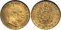 5 Mark Königreich Preußen (1701-1918) Gold Wilhelm I, German Emperor (1797-1888)