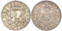 5 Mark Bremen (state) Silver