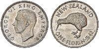 1 Florin Nouvelle-Zélande Argent George VI (1895-1952)
