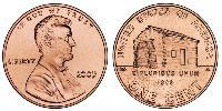 1 Цент США (1776 - ) Цинк/Медь Авраам Линкольн (1809-1865)