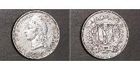 1 Peso Dominican Republic Silver