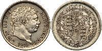 1 Шиллинг Соединённое королевство Великобритании и Ирландии (1801-1922) Серебро Георг III (1738-1820)