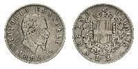 2 Лира Kingdom of Italy (1861-1946) Серебро Victor Emmanuel II of Italy (1820 - 1878)