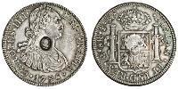 1 Доллар / 8 Реал Новая Испания (1519 - 1821) / Соединённое королевство Великобритании и Ирландии (1801-1922) Серебро Карл IV король Испании (1748-1819) / Георг III (1738-1820)