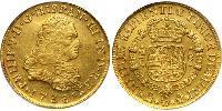 8 Эскудо Новая Испания (1519 - 1821) Золото Филипп V король Испании (1683-1746)