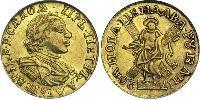 2 Rublo Impero russo (1720-1917) Oro Pietro I di Russia(1672-1725)