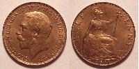 1/2 Penny 大不列颠及爱尔兰联合王国 (1801 - 1922) 青铜 乔治五世  (1865-1936)