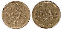 1 Dollar 印度 / Singapore 青铜/铝