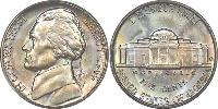 1 Nickel / 5 Cent 美利堅合眾國 (1776 - ) 镍/銅 Thomas Jefferson (1743-1826)