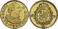 1/2 Escudo Spanish Empire (1700 - 1808) Gold Charles III of Spain (1716 -1788)