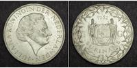 1 Gulden Suriname Argento Juliana of the Netherlands (1909 – 2004)