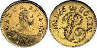 1 Полтина Российская империя (1720-1917) Золото Елизавета  I Петровна (1709-1762)