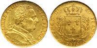 20 Franc Kingdom of France (1815-1830) Or Louis XVIII de France  (1755-1824)