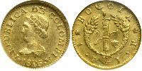 1 Песо Великая Колумбия (1819 - 1831) Золото