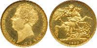 2 Pound Reino Unido de Gran Bretaña e Irlanda (1801-1922) Oro Jorge IV (1762-1830)