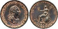 1 Farthing Kingdom of Great Britain (1707-1801) Copper George III (1738-1820)