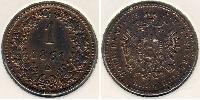 1 Kreuzer Imperio austríaco (1804-1867) Cobre