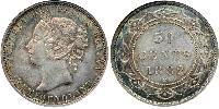 50 Cent Newfoundland and Labrador Silver Victoria (1819 - 1901)