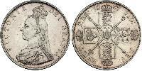2 Florin 大不列颠及爱尔兰联合王国 (1801 - 1922) 銀 维多利亚 (英国君主)