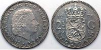 2 1/2 Gulden Regno dei Paesi Bassi (1815 - ) Argento Juliana of the Netherlands (1909 – 2004)