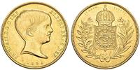 10000 Reis Empire of Brazil (1822-1889) Gold Pedro II of Brazil (1825 - 1891)