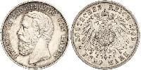 5 Mark Grand Duchy of Baden (1806-1918) Silver Frederick I, Grand Duke of Baden (1826 - 1907)