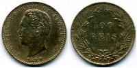 100 Reis Kingdom of Portugal (1139-1910) Silver Luis I of Portugal (1838 -1889)