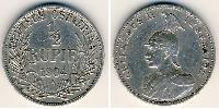 1/2 Рупия Германская Восточная Африка (1885-1919) Серебро
