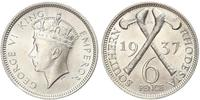 6 Penny Southern Rhodesia (1923-1980) Silver George VI (1895-1952)