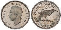 1 Sixpence New Zealand  George VI (1895-1952)