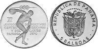 5 Balboa Republic of Panama Silver