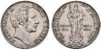 2 Gulden Regno di Baviera (1806 - 1918) Argento Massimiliano II di Baviera(1811 - 1864)