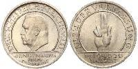 5 Mark / 5 Reichsmark République de Weimar (1918-1933) Argent Paul von Hindenburg