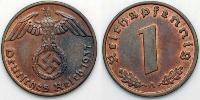 1 Pfennig Nazi Germany (1933-1945) Bronze
