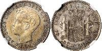 10 Centavo Porto Rico  Alfonso XIII of Spain (1886 - 1941)