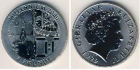 5 Pound Gibilterra Argento Elisabetta II (1926-)