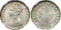 10 Cent Hong Kong Plata Victoria (1819 - 1901)