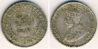 50 Cent Straits Settlements (1826 - 1946) Silber George V (1865-1936)