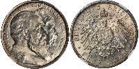5 Mark Grand Duchy of Baden (1806-1918) / German Empire (1871-1918) Silver Frederick I, Grand Duke of Baden (1826 - 1907)