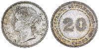 20 Cent Straits Settlements (1826 - 1946) Silver Victoria (1819 - 1901)
